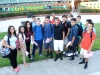 Clark students gather in the school quad on the first day of school