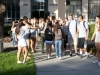 Associated Student Body (ASB) members officially greet incoming students on Monday morning.