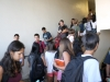 Students navigate the crowded halls at CVHS.