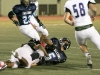 William Wang gains a first down in the fourth quarter against the Glendale Tornados (Photo by Ed Hamilton / Oct 26, 2012)