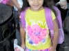 First grader Lara Alaver Dian is ready for school.