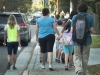 Walking to School at Dunsmore Elementary