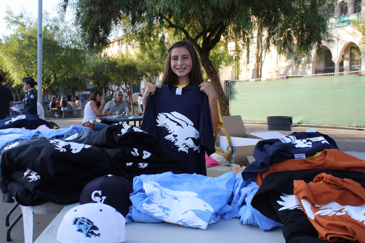 Clubs were on campus during Back to School Night selling T-shirts.