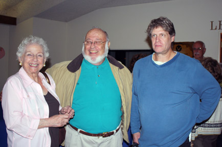 The Genofile home in La Crescenta got the worst of the damage from the 1978 flood. Seen here are (from left) Jackie Genofile, historian Art Cobery and Scott Genofile.Photo by Robin GOLDSWORTHY