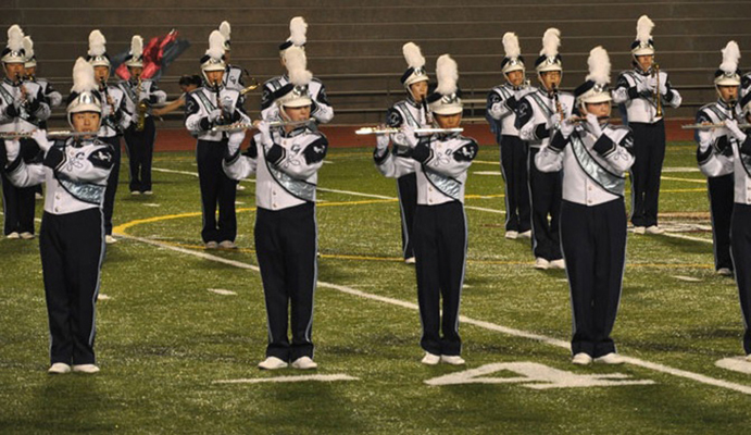 The CVHS marching band received a first place trophy at the West/El Camino Field Tournament on Oct. 3. Photo provided by CVHS