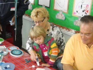 Grandparents who visited the Crescenta-Cañada Cooperative Nursery School on Saturday morning enjoyed a day of play.