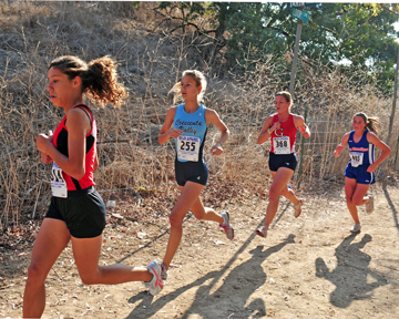Photo by Leonard COUTIN     Freshman Cali King finished 12th overall at the CIF Southern Section Divisional Preliminaries.