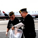 Veterans Jack Maison and Mike Baldwin participated in the Foreign Object Debris or FOD clean up at Bob Hope Airport.  The event had volunteers cleaning the runaway of potentially dangerous debris.  Photos by Mary O'KEEFE