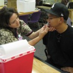 Employees at VHH recently received the H1N1 vaccine. Photo courtesy of Verdugo Hills Hospital