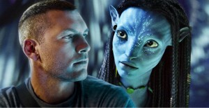 "Photo credit Twentieth Century Fox  Jake Sully (Sam Worthington) and Neytiri (Zoë Saldana) in James Cameron's ""Avatar."""