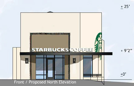 A rendering of what the new façade will look like.