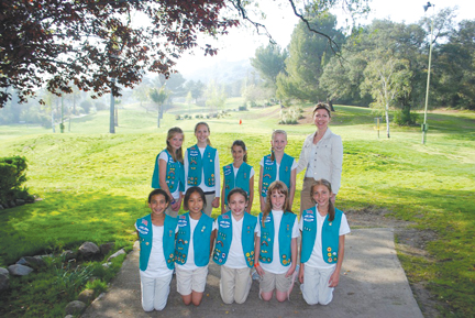 Photo by Sammi SLAYBACK The girls of Troop 391 stand in front of the Verdugo Hills Golf Course. They earned their Bronze Award for their preservation efforts.