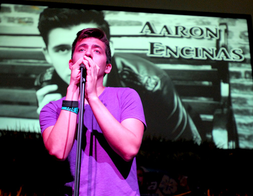 "Singer/songwriter Aaron Encinas performs during CV Church's presentation of ""Summer Nights"" on Sunday, June 24."""