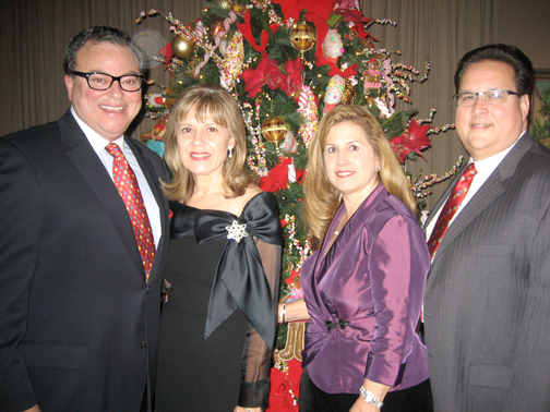 Photos by Carolyn BEATON Jose Sierra with his wife and Las Candleas president Monica Sierra and Patti and Ron Baker.