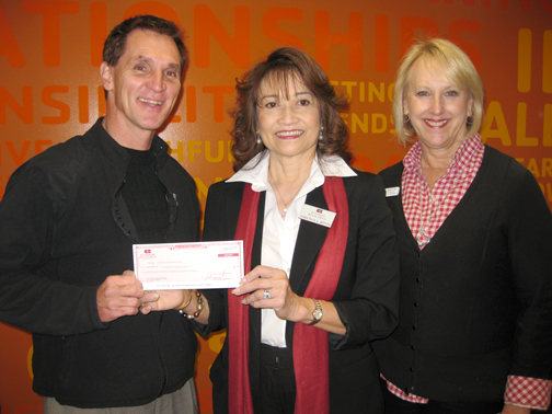 Shown above are Tyler Wright, CEO/president of the YMCA of the Foothills with Emelita Bituin, vice president and manager of Citizens Business Bank La Cañada Flintridge and Kim Beattie, director of Financial Development for the YMCA of the Foothills.