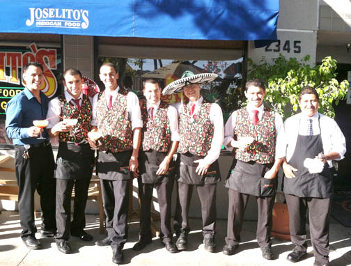 The staff at Joselito's is ready to celebrate Cinco de Mayo!