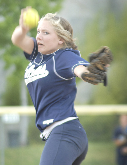 Photo by Ed HAMILTON CV pitcher Olivia Thayer in action May 9 vs Arcadia.