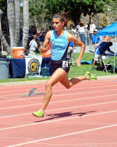 Kayleigh Carrillo placed seventh in the 400m (57.41). She did not make qualifying time to move on at the Masters Meet.