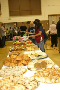 About 200 people attended the breakfast hosted by the Church of Latter-day Saints.