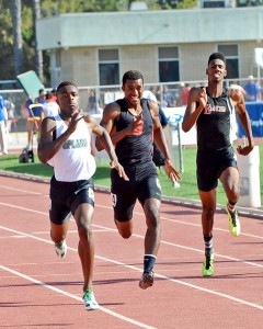 Michael Davis of Glendale captured second in the 200m behind Upland to move on to the Masters Meet.