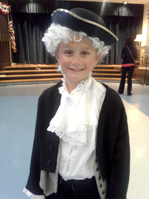 "Photos by Misty DUPLESSIS Eric Kruegermann as George Washington in the play, ""Let George Do It."