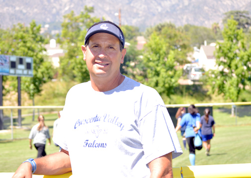 Photo by Brandon HENSLEY John Pehar will be taking over the coaching responsibilities for the Crescenta Valley High School softball team.