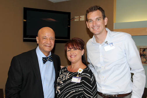 Sam Nikou, MD, Christine Pierce, manager GAMC Business Development, and Peter Baker, VP, GAMC Business Development.