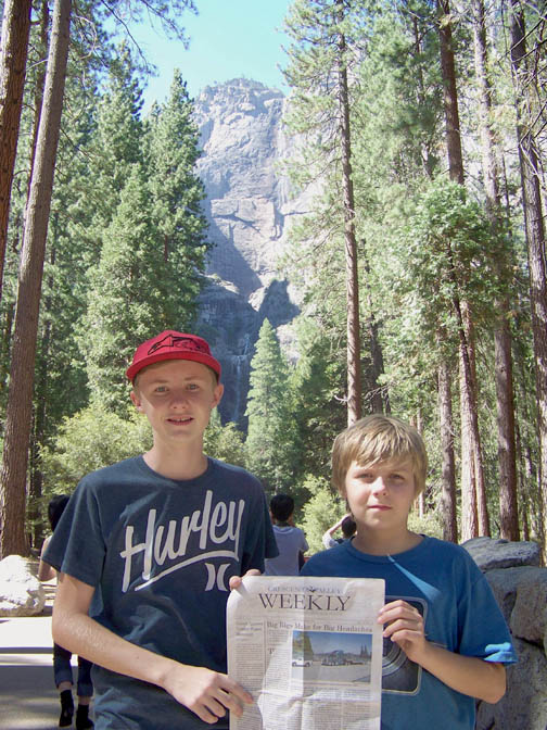 John & Mike Holden at Yosemite Falls, Summer 2013 WEB