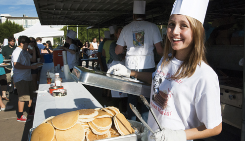 File photo CV High School students will help out at this Saturday's annual CVTC pancake breakfast held at the high school
