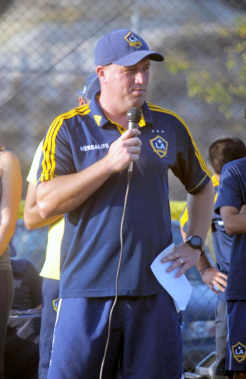 Clint Mathis, 2002 United States National Team World Cup veteran, along with four Los Angeles Galaxy Academy