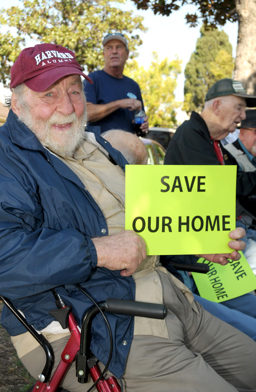 Photos by Dan HOLM Protesters of the closure of Twelve Oaks assisted living facility in La Crescenta converged on the offices of the parent company be.group.