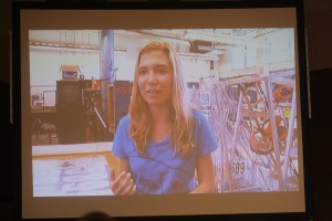 Isabel Repath Martos from CVHS Falkon's Robotic Team was featured in a video presentation at the State of the Schools breakfast.