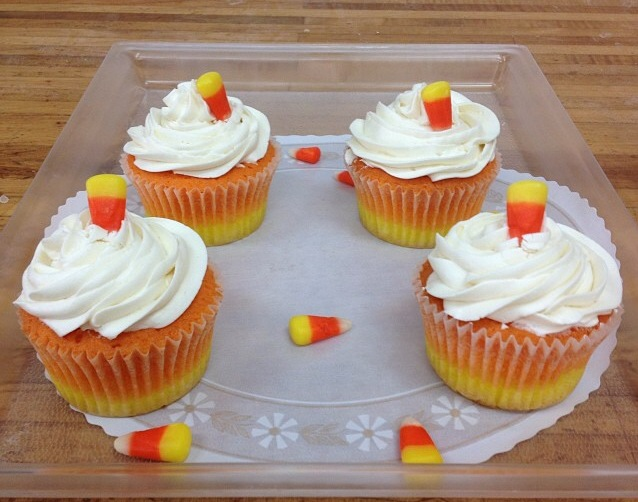 Must try all butter candy corn cupcakes from Baked on Oceanview!