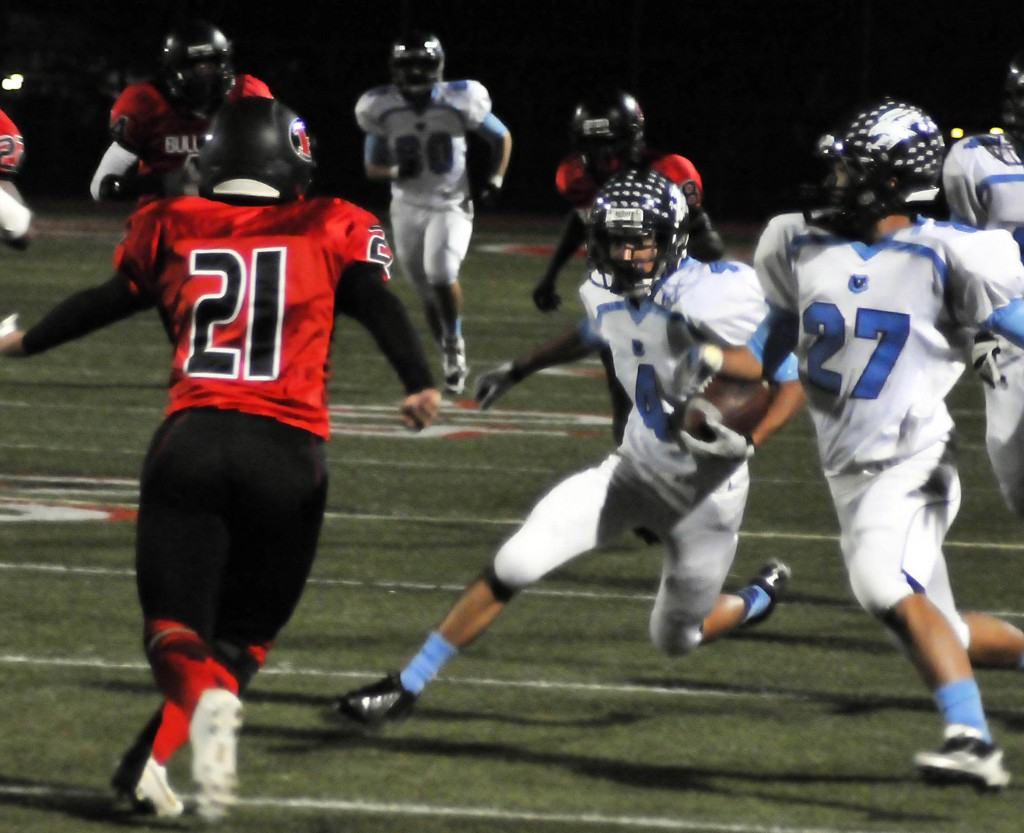 Photos by Jason BALLARD Jordan LoBianco, who transferred this year from Verdugo Hills, had three catches for 102 yards and two scores.