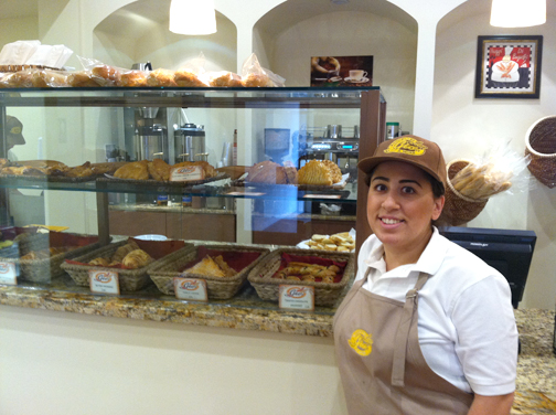 Gio's owner Azniv and her French pastries.