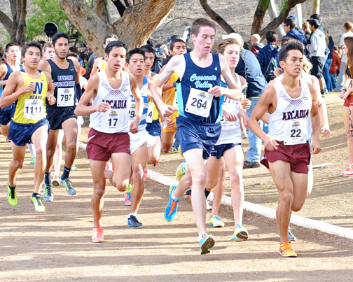 Photo by Leonard COUTIN CV Runner Gabe Collison helped lead the Falcons to a fifth place team standing to garner a place at state.