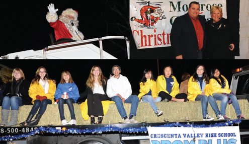 File photos Santa will be found on Honolulu Avenue as will junior grand marshals (Prom Plus Club members) and announcers Rick Dinger and Jane Kane. Farther east, a second announcer booth will house Leila and Vince Bell.