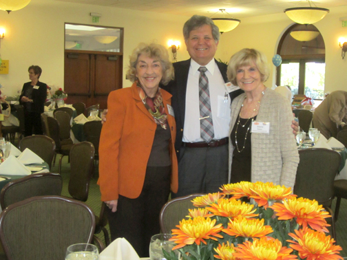 Photos by Marilyn CABLE Shown from left are Danette Erickson, coordinator of press for the guild, Dr. William Oppenheim, director of the Celebral Palsy Program at Orthopaedic Institute for Children and Marie Baker, president of La Cañada Flintridge Orthopaedic Guild.