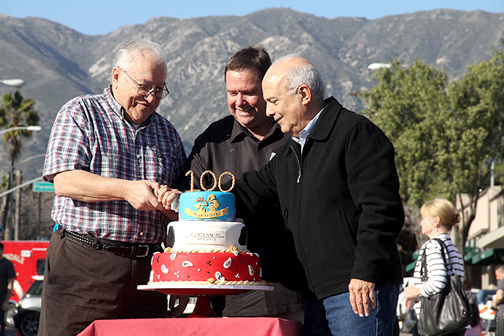 Photo by Ed HAMILTON A lawsuit challenging councilmember Frank Quintero (shown at right with MSPA president Ken Grayson and MVCOC president Pat Longo at the Montrose Centennial celebration) was rejected by the state attorney's office.