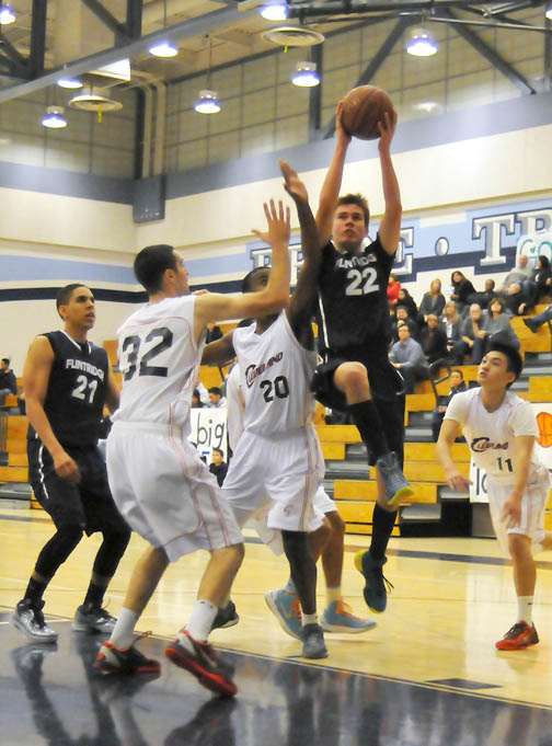 Photos by Jason BALLARD Flintridge Prep senior guard Robert Cartwright had 19 points and five assists against Jefferson High School on Monday and scored a game-high 32 points Tuesday against Cleveland.