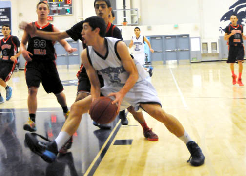 Photos by Jason BALLARD Kevin Dinges, shown here against Verdugo Hills Dons, wowed the crowd during the Falcons Classic against Cesar Chavez.
