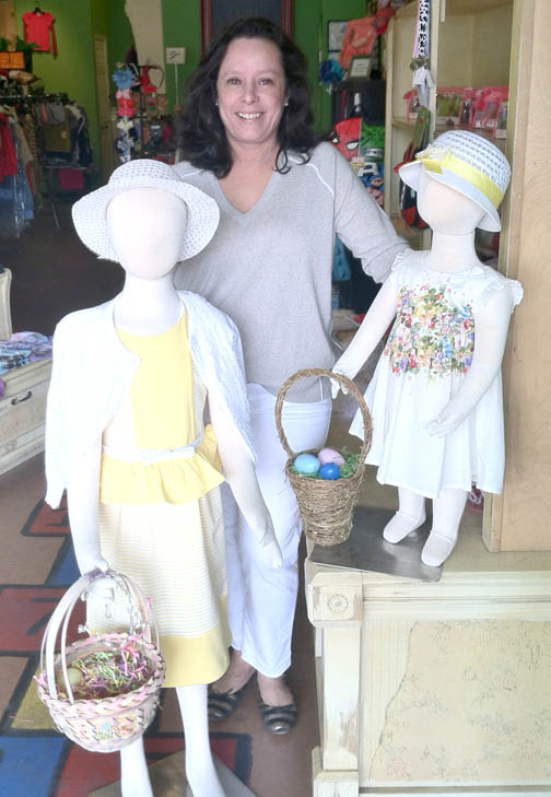 Dress the kids for Easter at It Takes A Village.