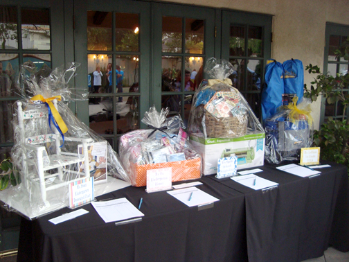 Local businesses as well as Mountain Avenue Elementary classrooms provided items for the silent auction.