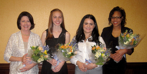 Four outstanding women were honored at the annual Accolades Live Your Dream awards luncheon held in March. From left are recipients Cathy Keen, Allison Zadravecz, Melissa C. Gonzalez and Shanesha A. Franklin.