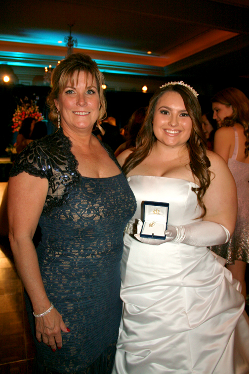 Photo by Janet Lazier, NCL Glendale Alexa Nicole Rittichier, right, with her mother Mary Jane Rittichier, received the Senior Achievement Award presented to the Ticktocker who, during her six years, earned the most service hours towards all of the NCL Glendale Chapter philanthropies.