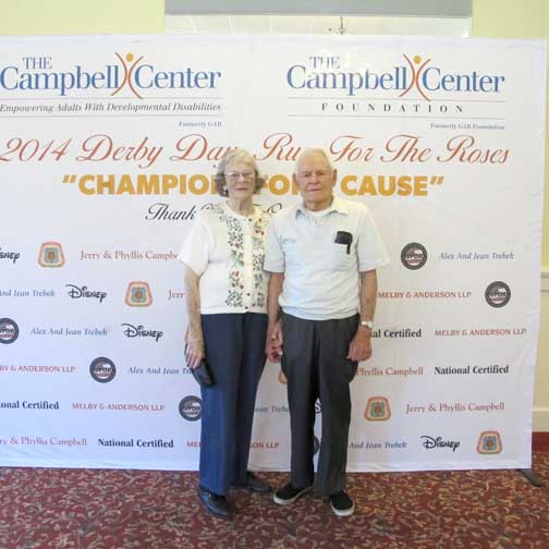 Phyllis and Jerry Campbell, founders of The Campbell Center (formerly GAR).