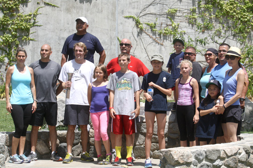 Crescenta Valley Sheriff Station torch runners arrived at the station about 1 p.m. on Sunday.