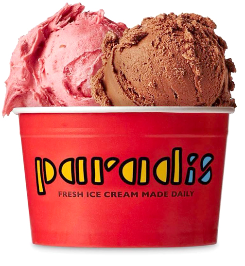 Paradis has the best homemade chocolate ice cream!