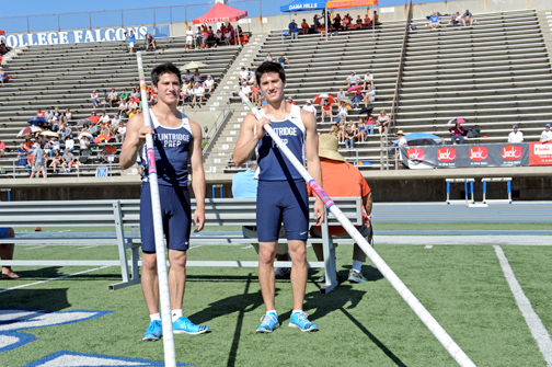 From Flintridge Prep, both of the Weiss twins will travel to Clovis for pole vaulting.