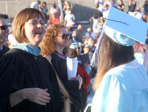 This was the last CVHS graduation for Lisa Reed who will be moving on to the Glendale district offices.